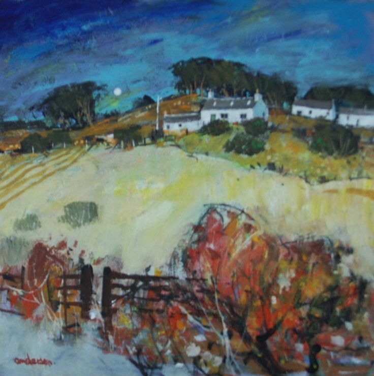 Border Farmland by the contemporary artist Charles Anderson available to buy online at The Leith Gallery, a Scottish contemporary art gallery based in Edinburgh, Scotland, UK