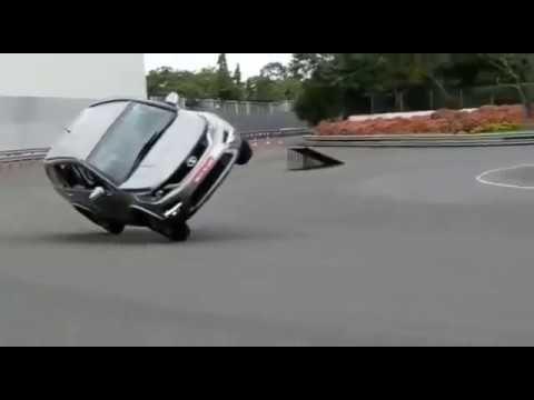 Tata new suv HEXA driven on two wheels