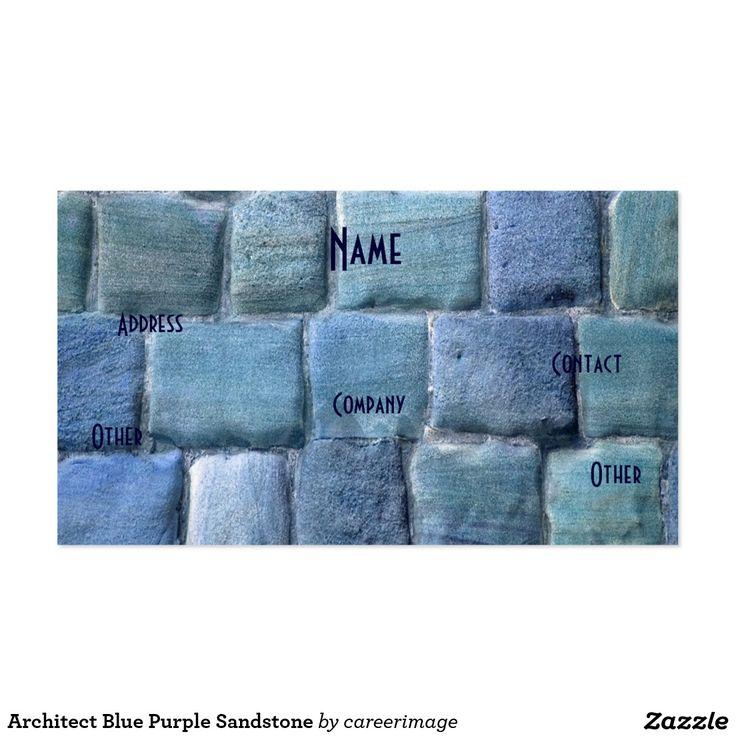 Piedra arenisca púrpura azul del arquitecto tarjetas de visita