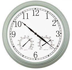 Ultimate Innovations 3-in-1 Outdoor Clock with Thermometer & Hygrometer