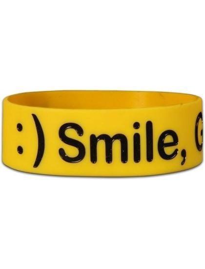 Wide Silicone Bracelet - Smile - Christian Bracelets