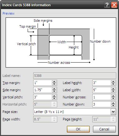 How to Make Index Cards in Microsoft Word 2007