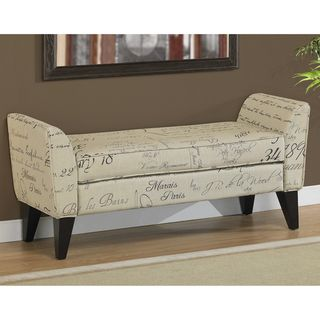 @Overstock.com   Phoenix Signature Tan Upholstered Bench   Add Extra  Seating And A
