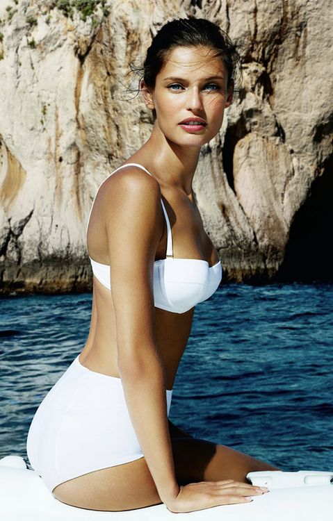 Beautiful, simple white swimsuit