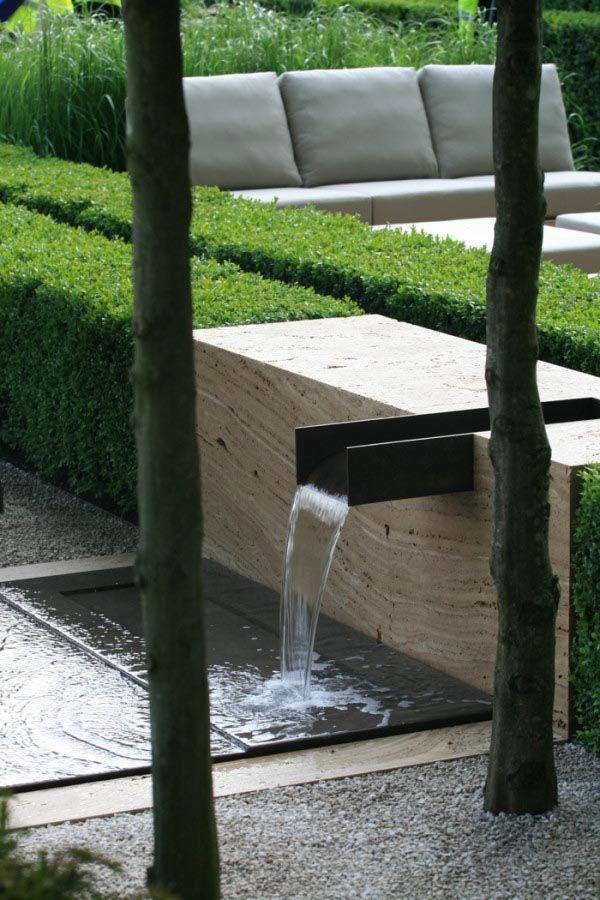 Japanese Water Fountain Art In 2020 Water Features In The Garden Modern Landscaping Modern Garden Design