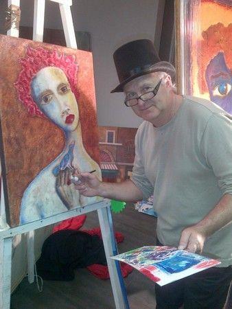 Laubar Lady & Bird SOLD ...Own a Laubar Painting...