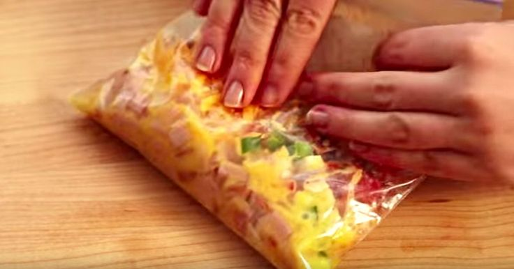 Making An Omelet In A Bag Might Sound Gross, But It Comes Out Perfect.