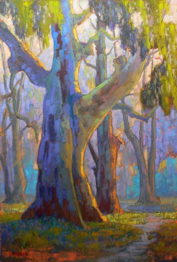 Callifornia landscape Plein Air.Impressionism. by RIVERBEARSTUDIO