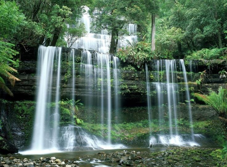 Russell Falls at Mount Field National Park - Tasmania, Australia