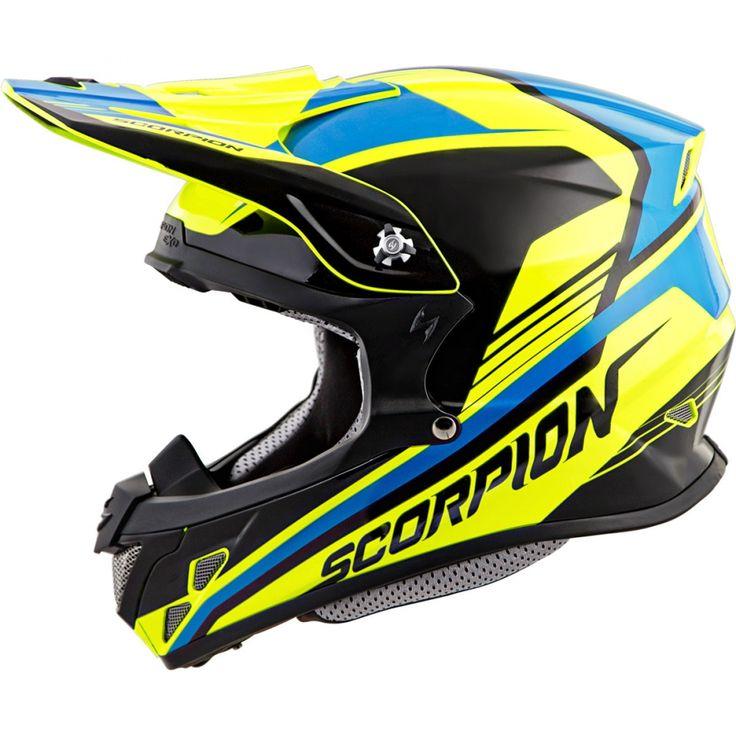 Scorpion VX-R70 ASCEND (NEON/BLU) DOT+ECE *Snow Compatible*