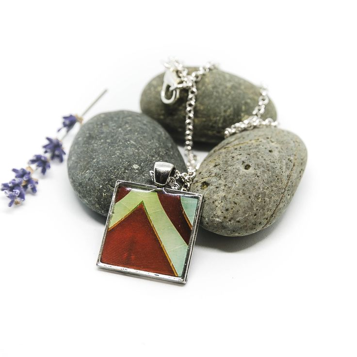 Architecture inspired necklace - Petersen Automotive Museum Red by pixyarts on Etsy