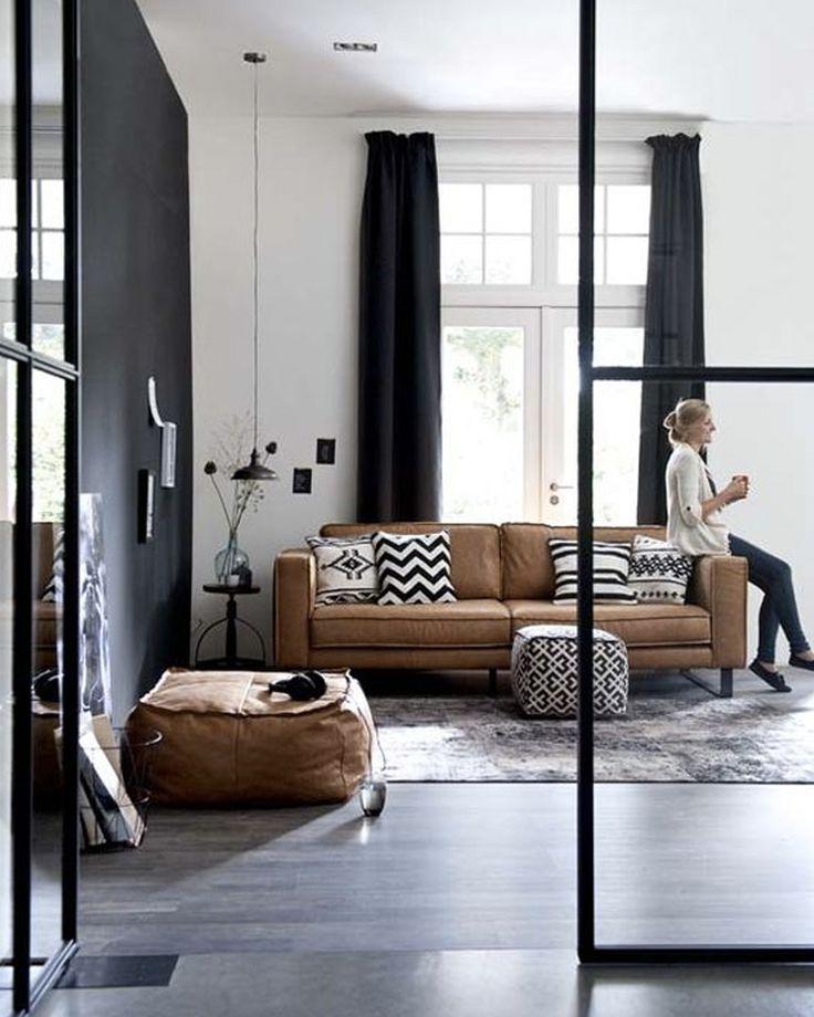 du cuir dans la d co du salon deco par pi ce decor by. Black Bedroom Furniture Sets. Home Design Ideas