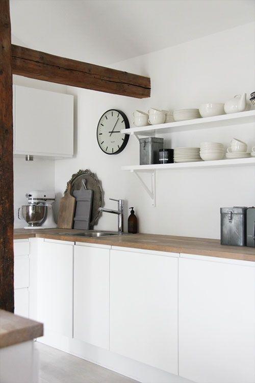 perfect kitchen.      woodbeams (via the style files)