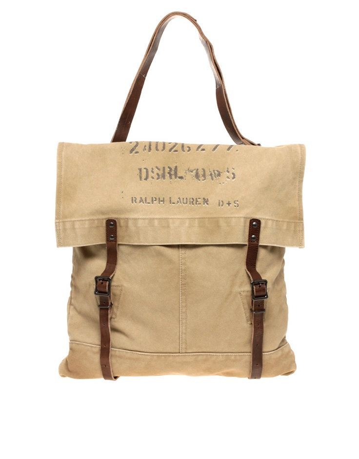 Denim & Supply By Ralph Lauren Canvas Tote with Double Straps: Double Straps, Ralph Lauren,  Postbag, Mailbag, All Canvas, Lauren Canvas, Bags Canvas, Denim Supplies, Canvases