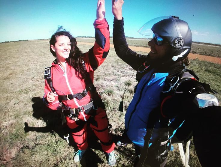 High 5! Michelle's first skydive. #highfive #skydive #mosselbay #southafrica by pattyrogers