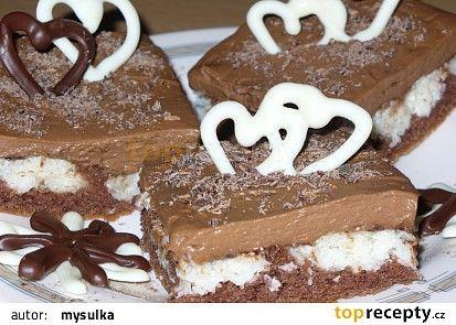 Kakaovo kokosové řezy recept - TopRecepty.cz