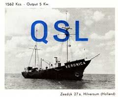 QSL card from Radio Veronica