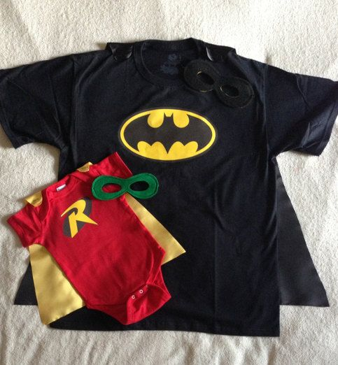 The perfect gift for a proud new Daddy or new Big Brother! This Father/Son Big Brother/Little Brother duo makes a great baby shower gift, or would be perfect for bringing home baby from the hospital. Have an older Superbaby who thinks Daddy is a hero? These are available in toddler and child T-sh...