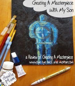 Creating A Masterpiece with My Son - Reviewing A Homeschool Art Curriculum @toshcrew #hsreviews #artinstruction #homeschoolart #onlineartprogram
