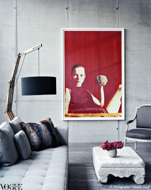 : Wall Art, Interior Design, Living Rooms, Livingrooms, Red, Interiors, Interiordesign, Vogue Living