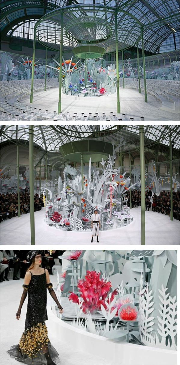 Set design at Chanel Couture Spring 2015