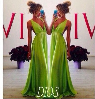 S M L new fashion style women long dresses deep v neck spaghetti strap green maxi dresses long vestidos femininos MQZ618 -in Dresses from Women's Clothing & Accessories on Aliexpress.com | Alibaba Group