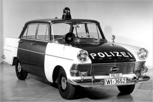 Opel Rekord German Police Car