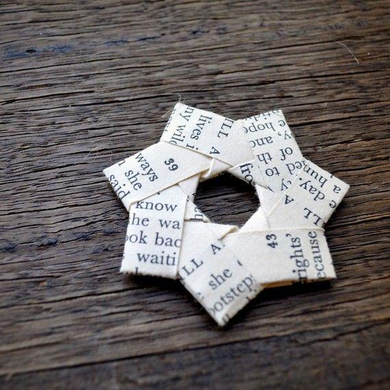 Stelle di carta dell'annata piegato testo. di ShePinTea su Etsy