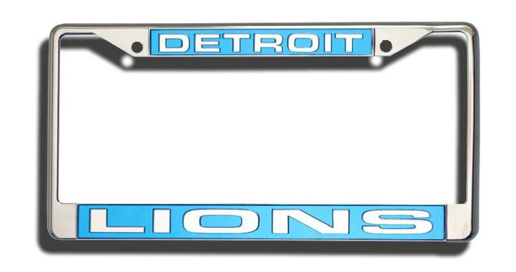 Detroit Lions Laser Cut Chrome License Plate Frame