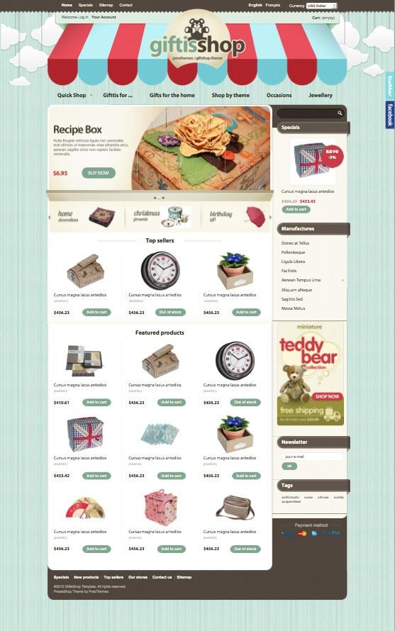 Giftis PrestaShop Gifts Store Theme
