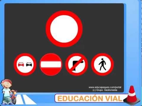 Educación vial. Las señales de tráfico