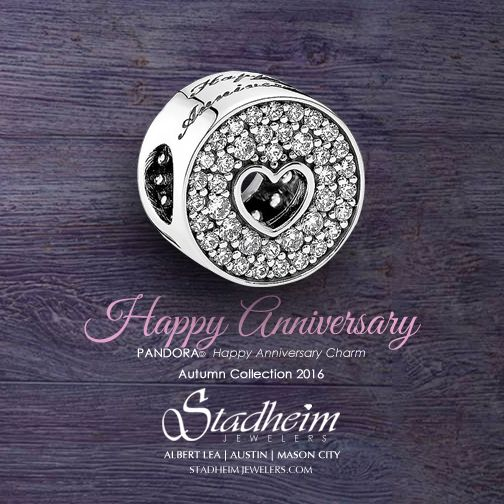 Pandora Happy Anniversary Charm - Autumn Collection