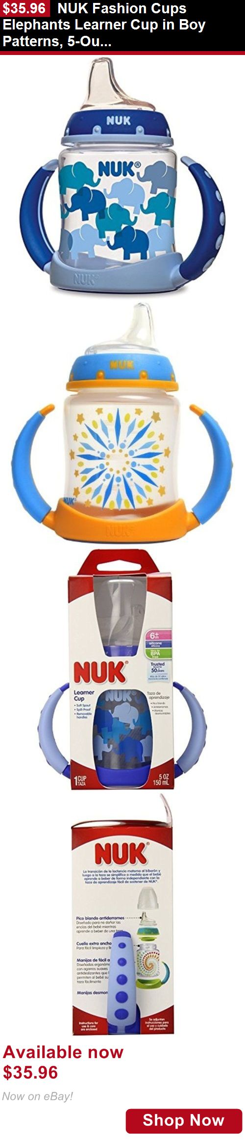 Baby Sippy Cups And Mugs: Nuk Fashion Cups Elephants Learner Cup In Boy Patterns, 5-Ounce BUY IT NOW ONLY: $35.96