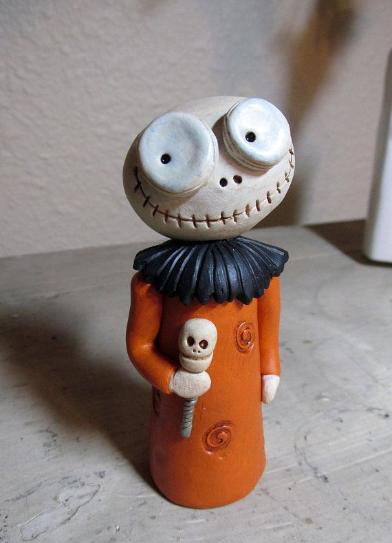 Halloween original SKELLY Skeleton Small with by JanellBerryman, $45.00 - uh! want!