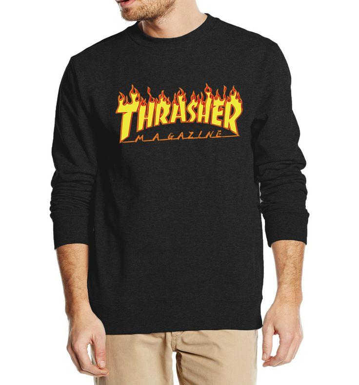 秋の冬服フリースtrasherスウェットヒップホップスケートボードパーカー男性ストリート高品質ブランド服
