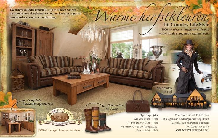 Advertentie voor Wonen Landelijke Stijl editie 5. Warme herfstsferen bij Country Life Style.