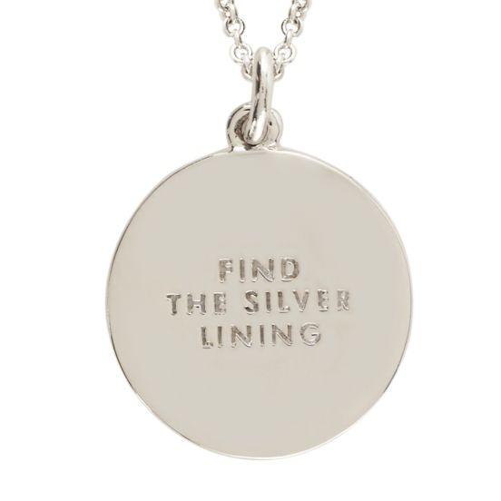 kate spade | find the silver lining idiom pendant