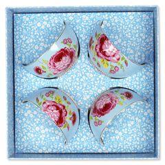 Rose Blue Bowl Set of 4 PIP51003028
