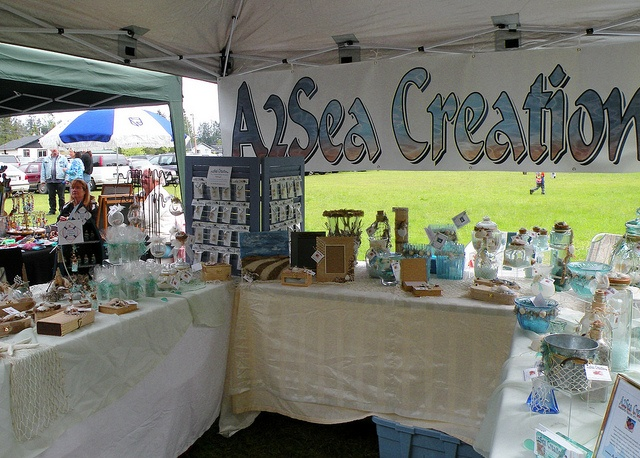 A2Sea Creations at the Errington Farmer's Market in Errington, BC on Vancouver Island.