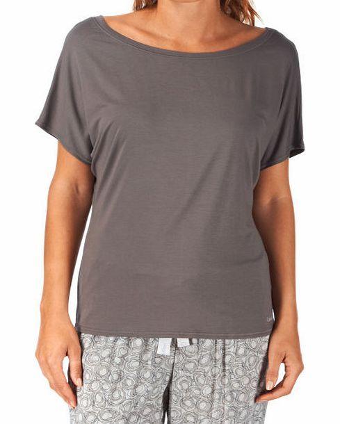 Calvin Klein Womens Calvin Klein Modal Co-Ordinates Short Womens short sleeve pyjama top