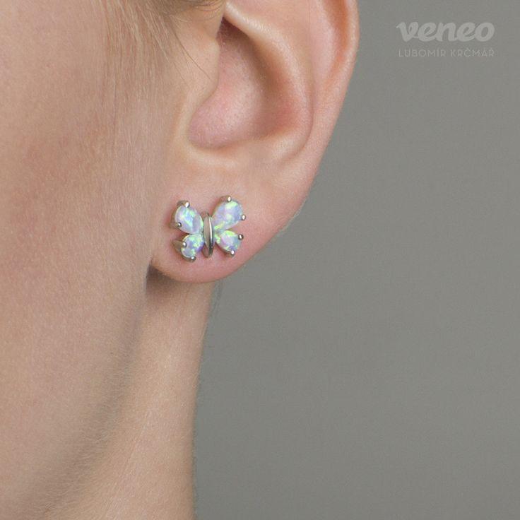 Butterfly. Gentle Handmade Australian Opal Earrings. Opal Earrings for Women. Beautiful present for her. Romantic Earrings. FREE shipping by Veneo on Etsy