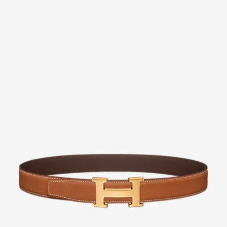 H belt buckle & Reversible leather strap - U_BELT_32_HOMME-H064544CC06-H068523CAAB085