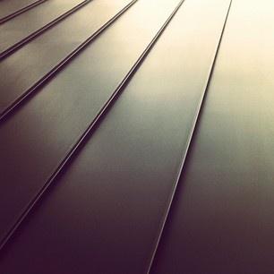 black zinc paneling