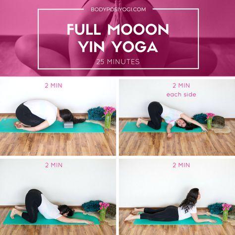 yin yoga practice full moon with images  yin yoga