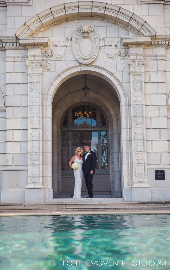 Summer Outdoor Poolside Wedding Ceremony And Reception At The Chase Park Plaza Hotel In Saint Louis Missouri By For Moment Photography