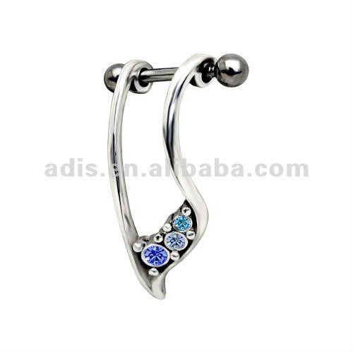 de lujo cz gema hélice perforación del oído borde cuelgan - spanish.alibaba.com
