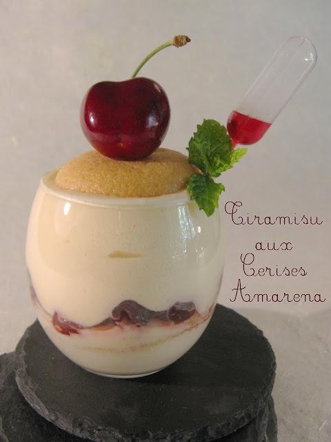 Tiramisu aux Cerises Amarena (+ recettes des cerises amarena au sirop)