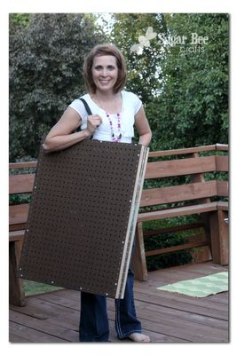 Peg Board Display Case ~ Sugar Bee Crafts - two sided - close and latch to transport - want something (foam?) to line the inside when transporting...