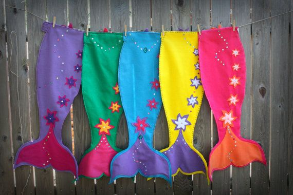 5 Magical Mermaid Tails  Party Pack via Etsy