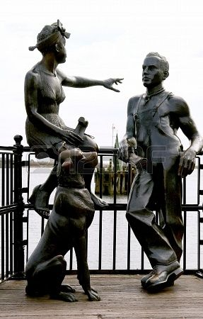 Urban sculpture, in Cardiff bay. Wales. UK.